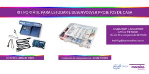Kit portátil M1K para estudar e desenvolver projetos de casa