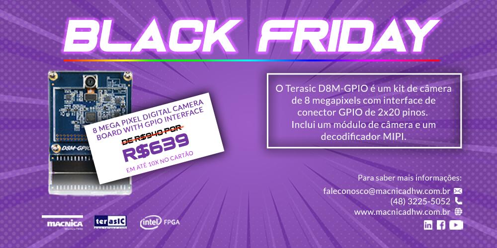 Promoção Black Friday: D8M-GPIO – 8 Mega Pixel Digital Camera Board with GPIO Interface