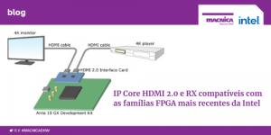 IP Core HDMI 2.0 e RX compatíveis com as famílias FPGA mais recentes da Intel