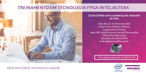 Treinamento em Tecnologia FPGA INTEL- Turma de Fevereiro