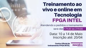 Read more about the article Garanta sua vaga no Treinamento em Tecnologia FPGA INTEL