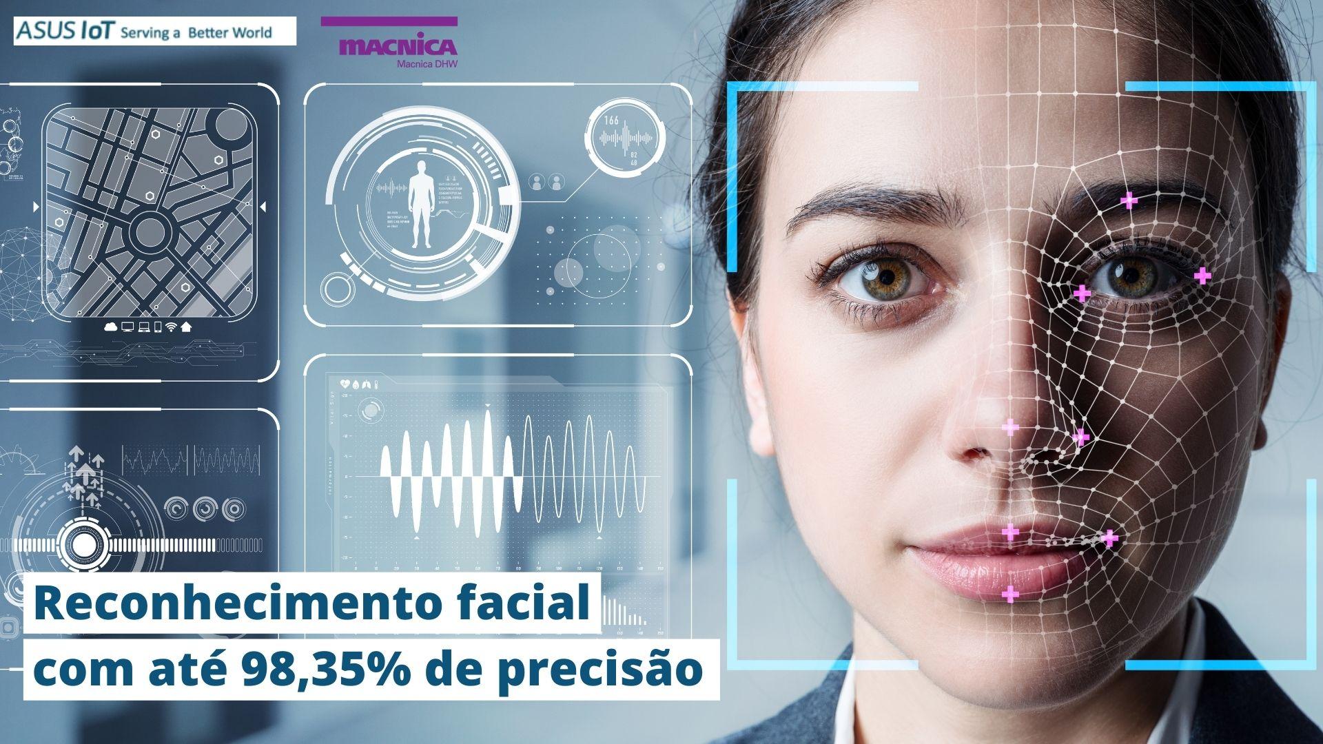 Reconhecimento facial com até 98,35% de precisão